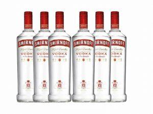 Buy Smirnoff Red Label Vodka no. 21 (X6 bottles) Price Online Lagos Nigeria